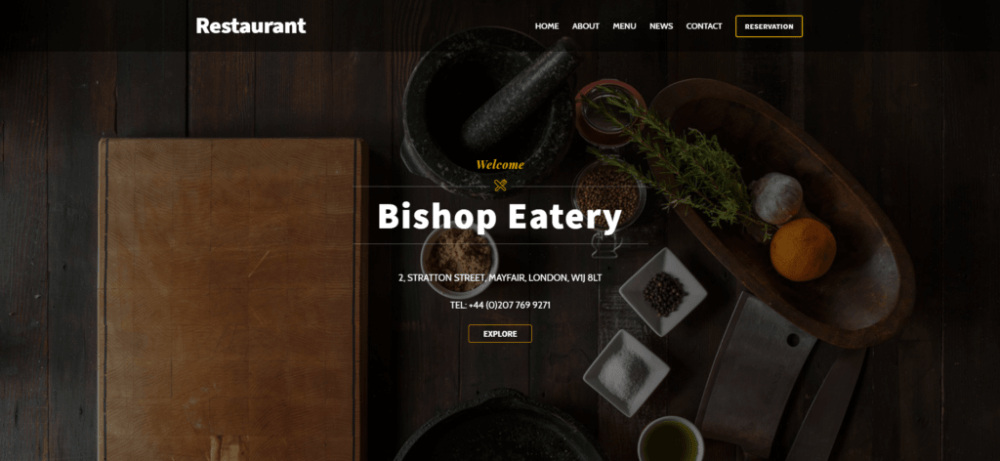 Oncomp Restaurant website